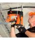 Монтаж держателя кабеля SPIT Cable bow с помощью газового монтажного пистолета